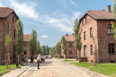 Auschwitz Concentration Camp. Barracks, south of Poland Royalty Free Stock Image