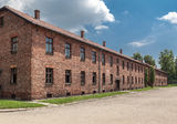 Auschwitz Concentration Camp. Barracks, south of Poland Stock Photography
