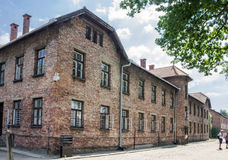 Auschwitz Concentration Camp. Barracks, south of Poland Royalty Free Stock Photos