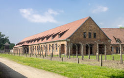 Auschwitz Concentration Camp. Barracks, south of Poland Royalty Free Stock Photography