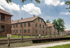 Auschwitz Concentration Camp. Barracks, south of Poland Royalty Free Stock Images