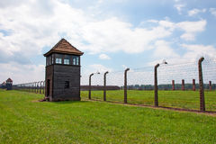 Auschwitz concentration camp Stock Photo
