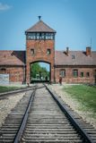 Auschwitz concentration camp, Birkenau in Poland. stock photography