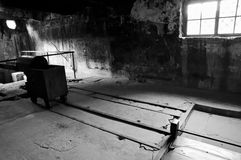 Auschwitz Concentration Camp Cremation Chamber - Poland. Auschwitz Concentration Camp in Poland Royalty Free Stock Image