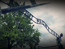 Auschwitz concentration camp Stock Images
