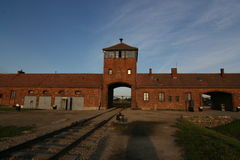Auschwitz concentration camp. The most famous nazi concentration camp in Germany, where work makes freedom (Arbeit macht frei Stock Images