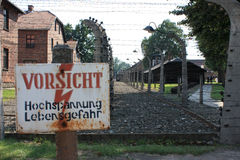 Auschwitz concentration camp in poland.  Royalty Free Stock Images