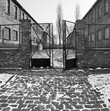 Auschwitz Concentration Camp - Poland. Accommodation blocks in Auschwitz Concentration Camp, where up to three million people were murdered by the Nazis (2.5 Stock Images