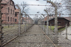 Auschwitz Concentration Camp. In Poland Stock Image