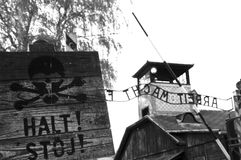 Auschwitz Concentration Camp - Poland Stock Image