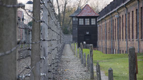 Auschwitz concentration camp. Was a network of German Nazi concentration camps and extermination camps built and operated by the Third Reich in Polish areas Royalty Free Stock Image