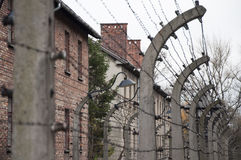 Auschwitz concentration camp. Was a network of German Nazi concentration camps and extermination camps built and operated by the Third Reich in Polish areas Stock Photo