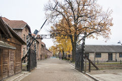 Auschwitz concentration camp. Was a network of German Nazi concentration camps and extermination camps built and operated by the Third Reich in Polish areas Stock Photos