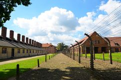 Auschwitz concentration camp. Auschwitz concentration and working camp, Poland Royalty Free Stock Photos