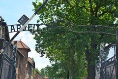 Auschwitz death camp Stock Images