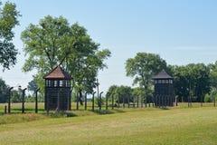 Auschwitz death camp Stock Image