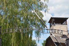 Auschwitz death camp Royalty Free Stock Photography