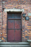 Auschwitz Door to Block 10 Royalty Free Stock Image