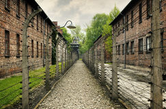 Auschwitz. Entrance to the Auschwitz concentration camp Royalty Free Stock Images