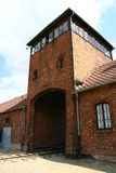 Auschwitz entrance tower Stock Images