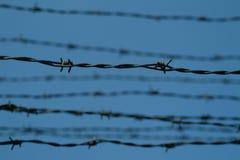 auschwitz förse med en hulling lägerkoncentrationstråd Arkivbilder
