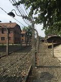 Auschwitz - Fence. Fence at Auschwitz concentration camp. (August 2015 Royalty Free Stock Photography