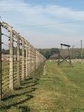 Auschwitz - Fence. Fence at Auschwitz concentration camp. (August 2015 Royalty Free Stock Photo