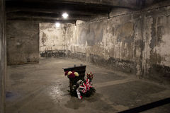 Auschwitz Gas Chamber - Poland. A gas chamber in Auschwitz concentration camp, where up to three million people were murdered by the Nazis (2.5 million gassed Stock Photography