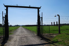 Auschwitz - gate in BIIa Royalty Free Stock Image