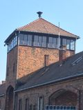 Auschwitz Gates of Death Guardhouse. Guardhouse at the Gates of Death at Auschwitz concentration camp. (August 2015 Royalty Free Stock Images