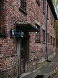 Auschwitz-Gebäude für Gefangen-Block 14 lizenzfreies stockfoto
