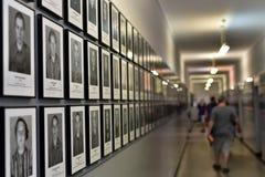 Auschwitz-Gefangen-Fotos Stockfotografie