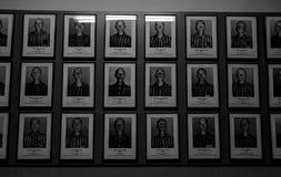 Auschwitz-Gefangene lizenzfreie stockbilder