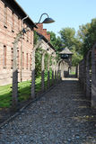 Auschwitz I. Concentration camp Auschwitz - Birkenau in Poland royalty free stock image