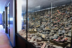 Auschwitz I - Birkenau shoes Stock Images