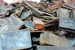 Auschwitz I - Birkenau suitcases Stock Photo