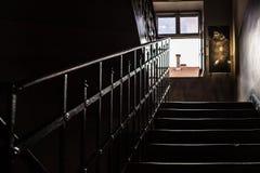 Auschwitz I - escalier de balustrade de Birkenau Image libre de droits