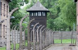 Auschwitz I, Pologne Photos libres de droits