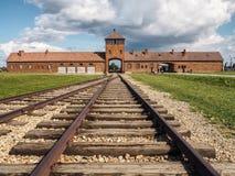 Auschwitz II–Birkenau - nazi death camp. stock photo