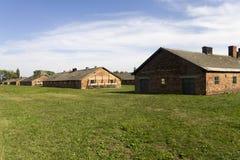 Auschwitz II - Alloggio di legno del campo di sterminio di Birkenau Fotografia Stock Libera da Diritti