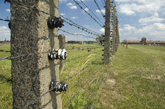 Auschwitz II-Birkenau. Entrance, or so-called death gate, to Auschwitz II-Birkenau, the extermination camp. Many people know the Birkenau camp simply as Royalty Free Stock Images