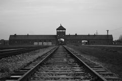 Auschwitz II Birkenau Fotografia Stock
