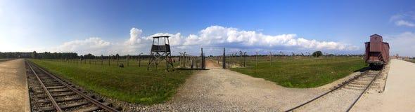 Auschwitz II - Birkenau-Ausrottungs-Lagerpanorama Lizenzfreie Stockbilder