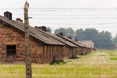 Auschwitz II - Birkenau barracks Stock Image