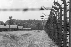 Auschwitz II - Birkenau electrified fence Royalty Free Stock Photo