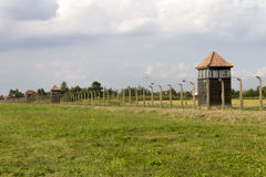 Auschwitz II -Birkenau Extermination camp guard perimeter Stock Images