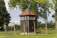 Auschwitz II -Birkenau Extermination camp guard tower Stock Image