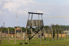 Auschwitz II -Birkenau Extermination camp guard tower Stock Photos