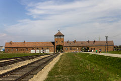 Auschwitz II -Birkenau Extermination camp main entrance Stock Photography