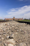 Auschwitz II -Birkenau Extermination camp main entrance Stock Photo